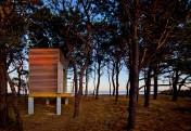 Chapaquiddick house boathouse south elevation sunset