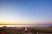 Chapaquiddick beach stair ramp sunset