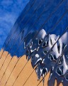 MIT Stata Center Csail offices and sky refelctions on the face o