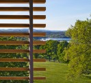 Kripalu housing tower, guest room sliding sunscreen.