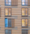 Kripalu Housing Tower sliding Cypress screens elevation